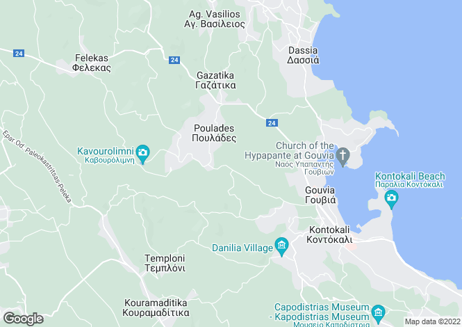 Map for Poulades, Corfu, Ionian Islands