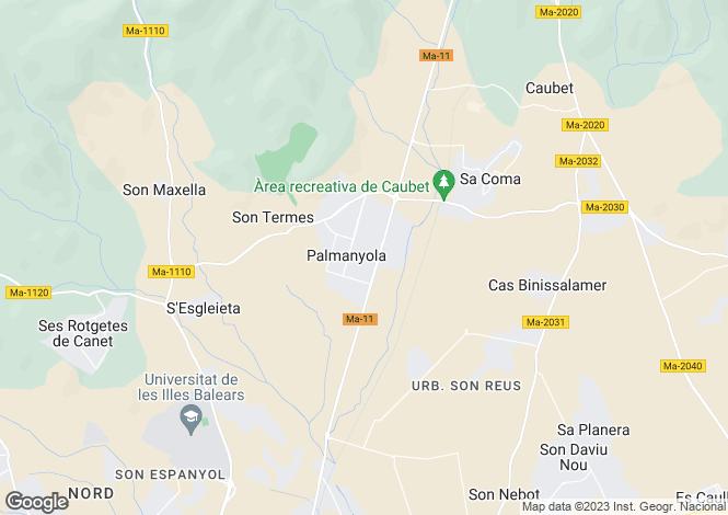 Map for Bunyola, Mallorca, Balearic Islands