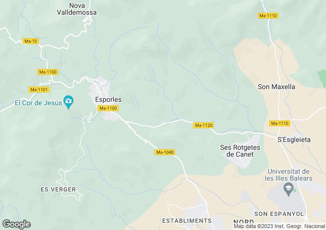 Map for Mallorca, Esporlas, Esporlas