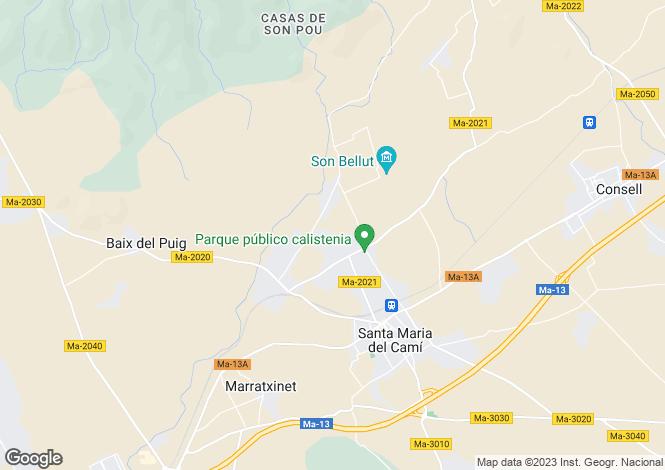 Map for Santa Maria, Spain