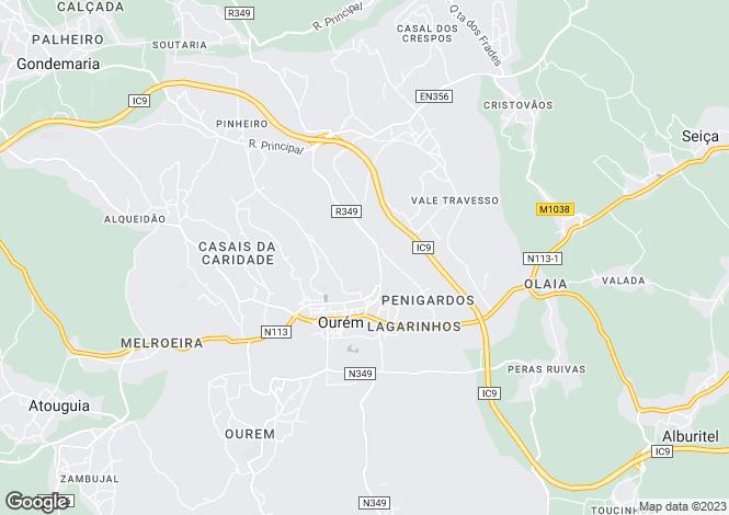Map for Vila Nova de Ourém, Ribatejo