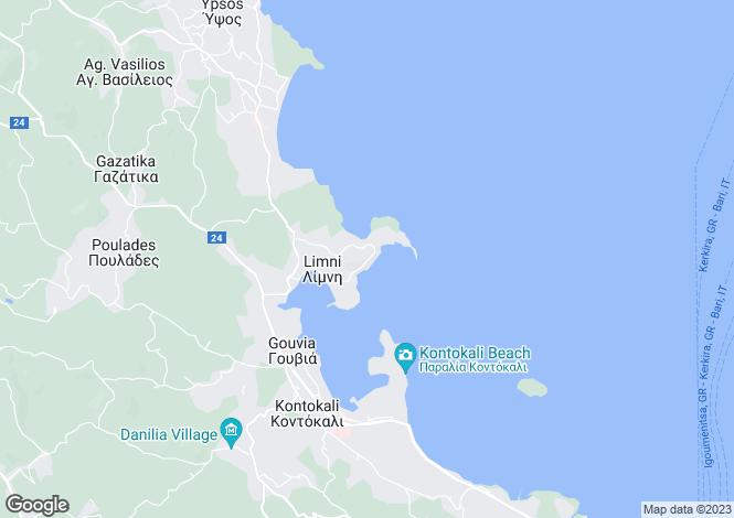 Map for Kommeno, Corfu, Ionian Islands
