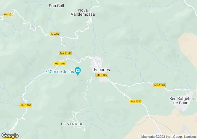 Map for Balearic Islands, Mallorca, Esporles