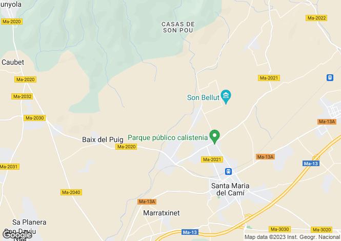 Map for Santa Maria del Camí, 6 Bedroom Country Home, Central Mallorca