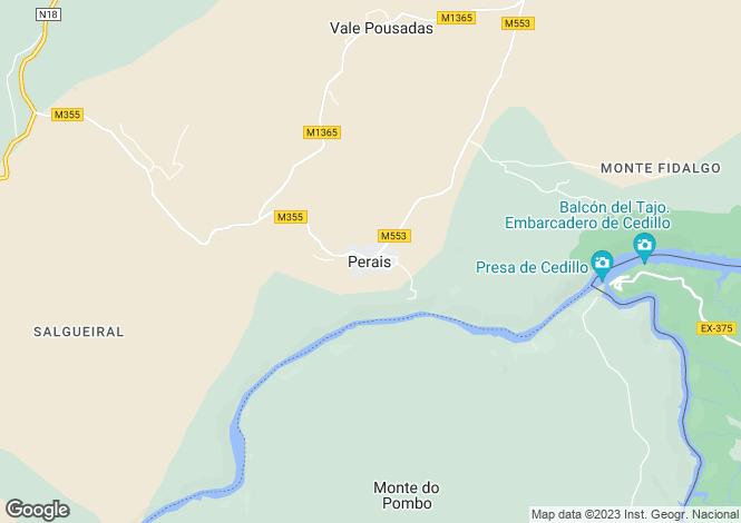 Map for Perais, Vila Velha de Rodão, Castelo Branco