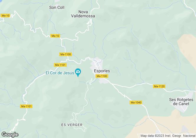 Map for Esporles, Mallorca, Balearic Islands