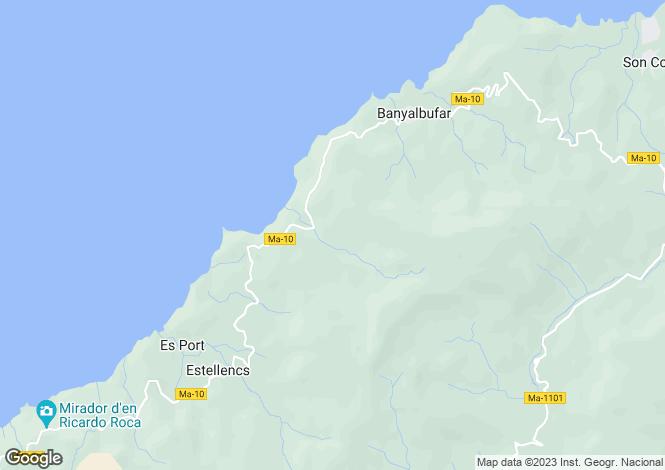Map for Estellencs, Mallorca, Balearic Islands