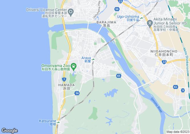 Map for Akita
