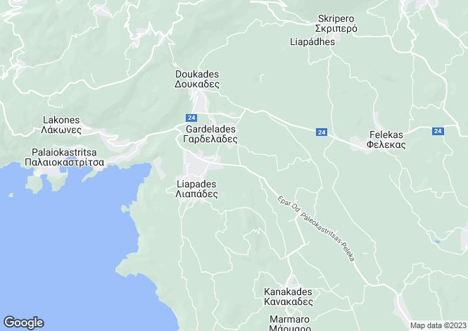 Map for Liapades, Corfu, Ionian Islands