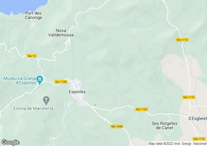 Map for Traditional Mallorcan finca with pool and guest house, Esporles