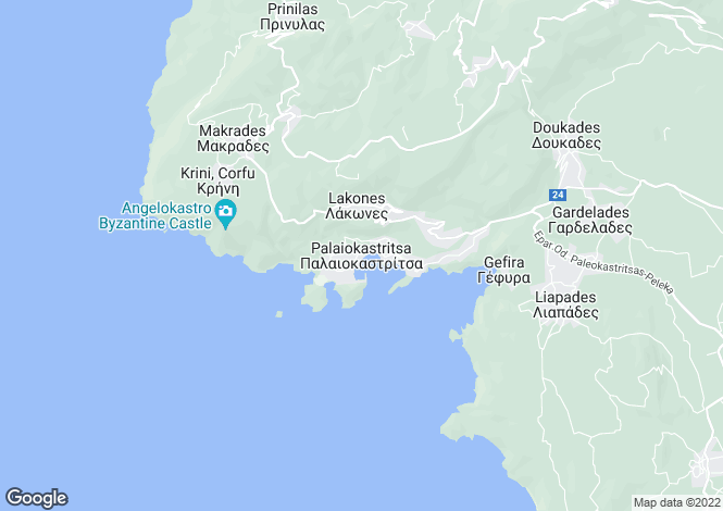 Map for BOUGANVILLE APARTMENTS, Paleokastritsa
