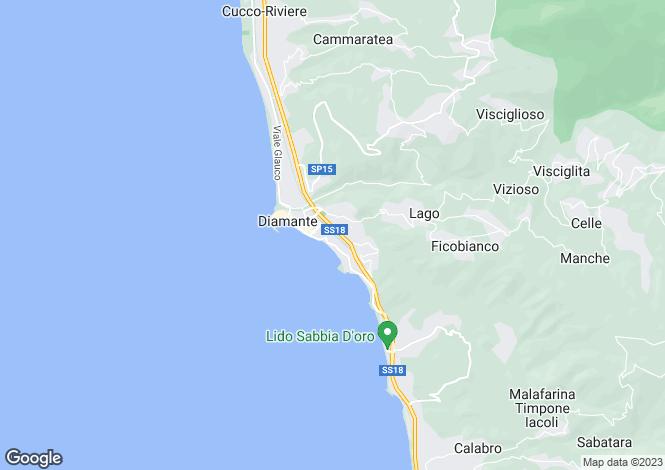 Map for Calabria, Cosenza, Diamante