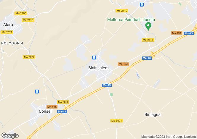 Map for Binissalem, Spain