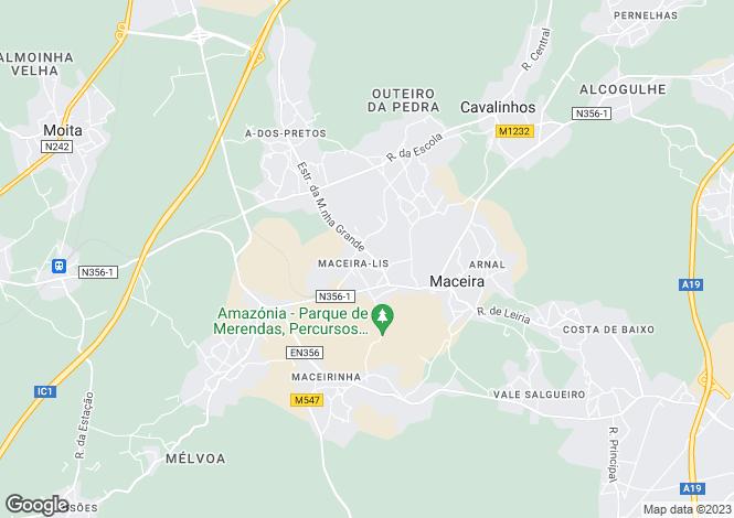 Map for Leiria, Maceira