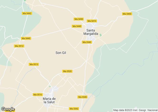 Map for Balearic Islands, Mallorca, Santa Margalida