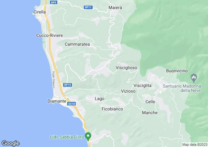 Map for Diamante, Cosenza, Calabria