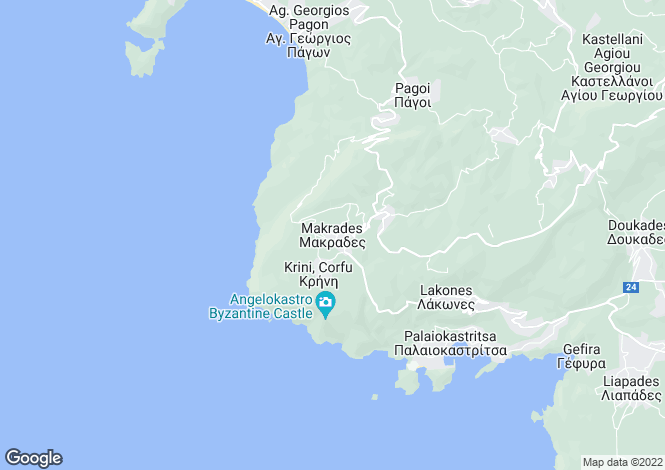 Map for Makrades, Corfu, Ionian Islands