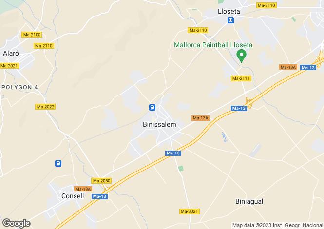 Map for Binissalem, Mallorca, Balearic Islands