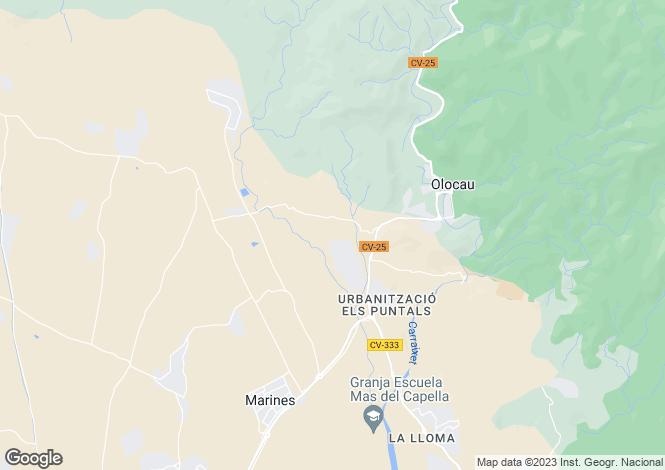 Map for Olocau, Valencia, Valencia