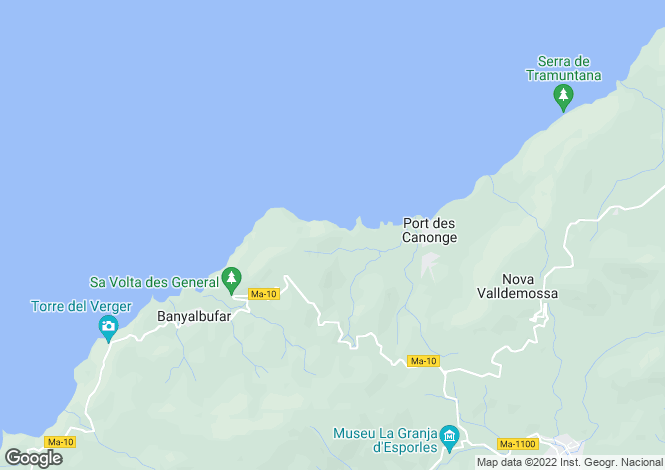 Map for 07191, Banyalbufar, Spain