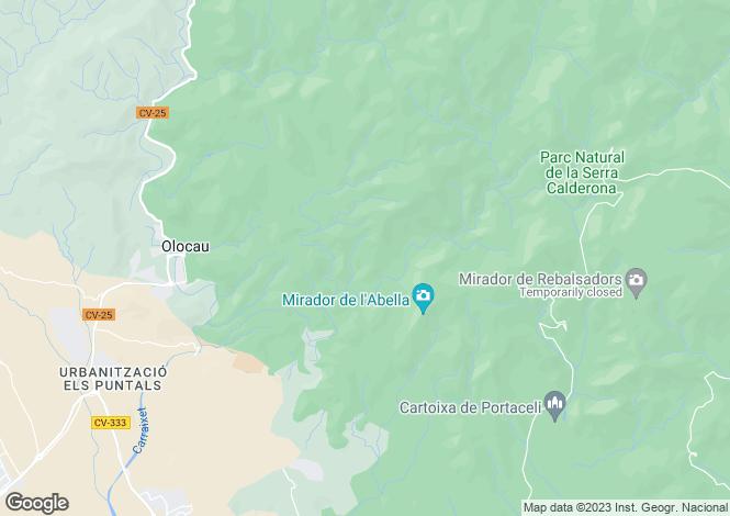 Map for Olocau, 46169, Spain
