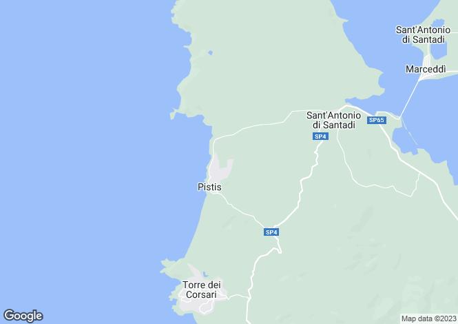 Map for Arborea, Oristano, Sardinia