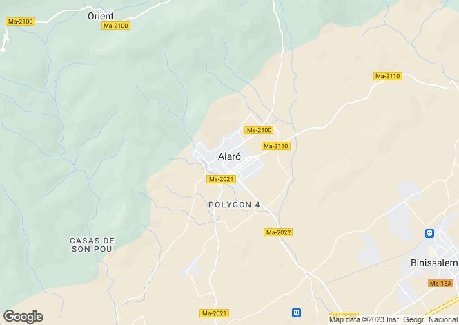 Map for Alaro, Spain