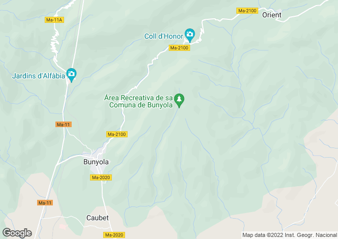 Map for 07110, Bunyola, Spain