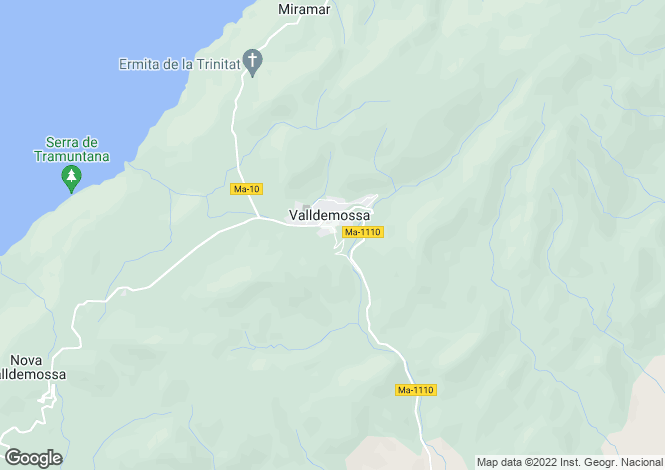 Map for Valldemossa, Mallorca, Balearic Islands