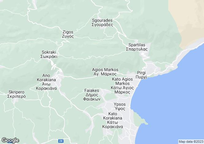 Map for VILLA CALYPSO, Agios Markos