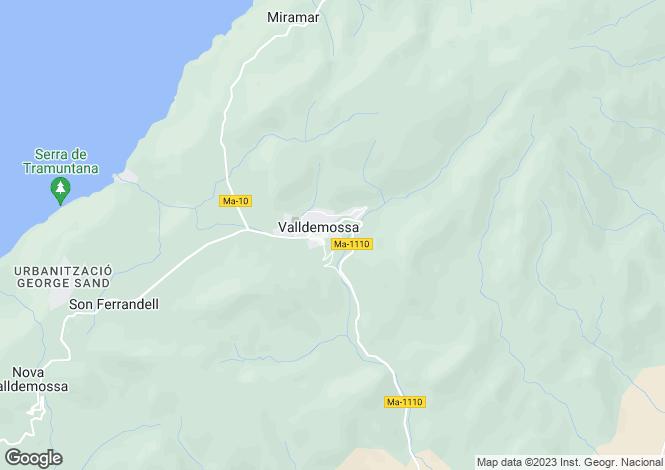 Map for Valldemossa, Mallorca, Balearic Islands