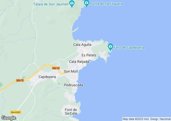 Map for 07590, Cala Ratjada, Spain