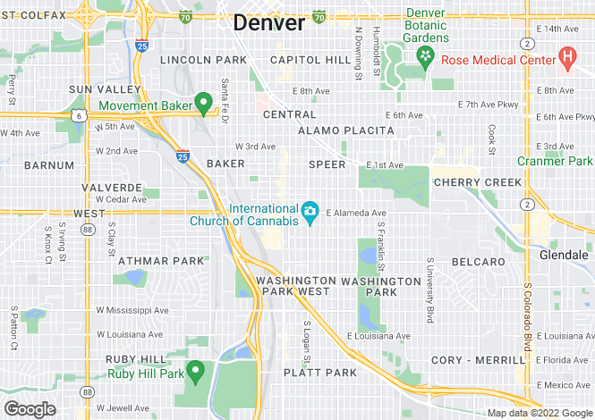 Map for USA - Colorado, Denver County, Denver