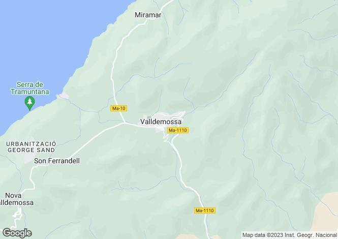 Map for Balearic Islands, Mallorca, Valldemossa