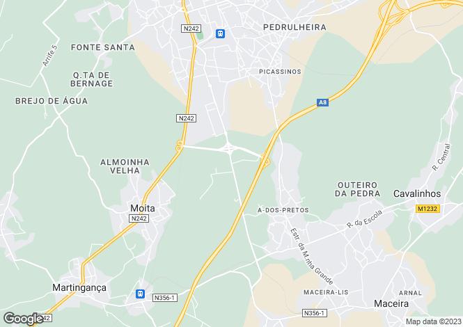 Map for Leiria, Marinha Grande