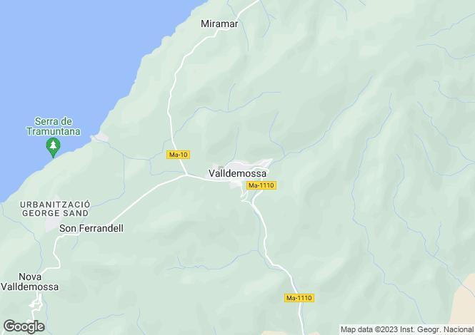 Map for Valldemossa, Spain