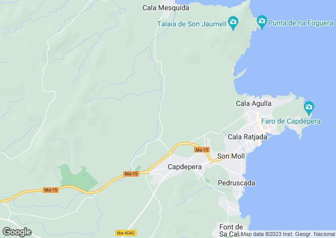 Map for Spain - Balearic Islands, Mallorca, Capdepera