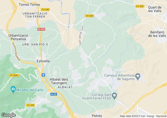 Map for Valencia, Valencia, Estivella