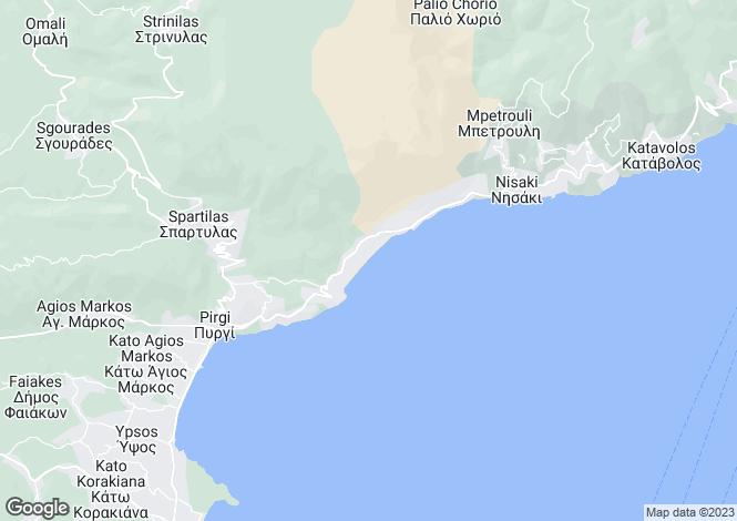 Map for Ionian Islands, Corfu, Barbati