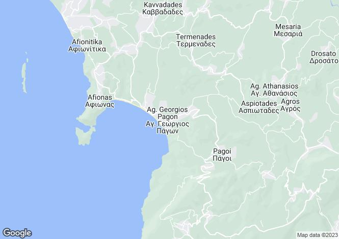 Map for Ionian Islands, Corfu, Agios Georgios Pagon