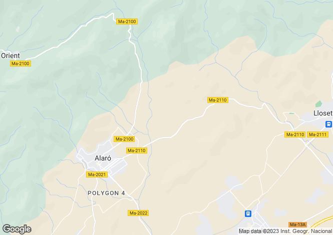 Map for Alaró, Mallorca, Balearic Islands