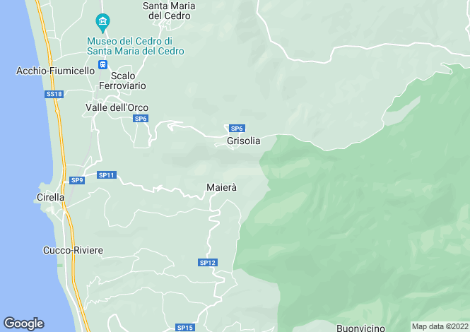 Map for Grisolia, Cosenza, Calabria