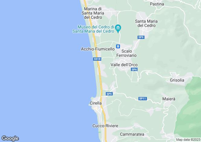 Map for Santa Maria del Cedro, Cosenza, Calabria