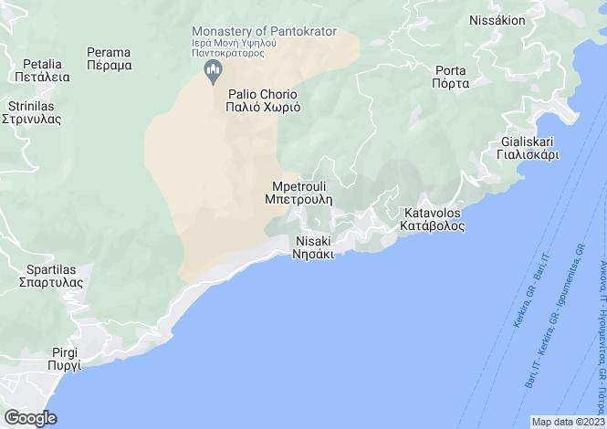 Map for Nissaki, Corfu, Ionian Islands