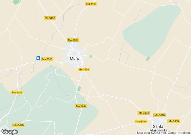 Map for Muro, Mallorca, Balearic Islands