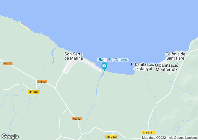 Map for 07459, Son Serra De Marina, Spain