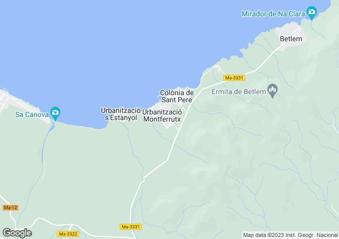 Map for Balearic Islands, Mallorca, Colònia de Sant Pere