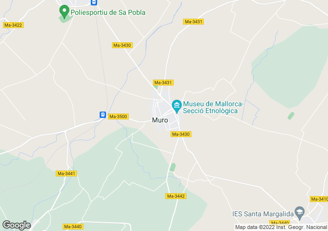 Map for 07440, Muro, Spain