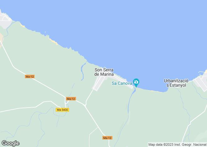 Map for Son Serra de Marina, Santa Margalida, Mallorca