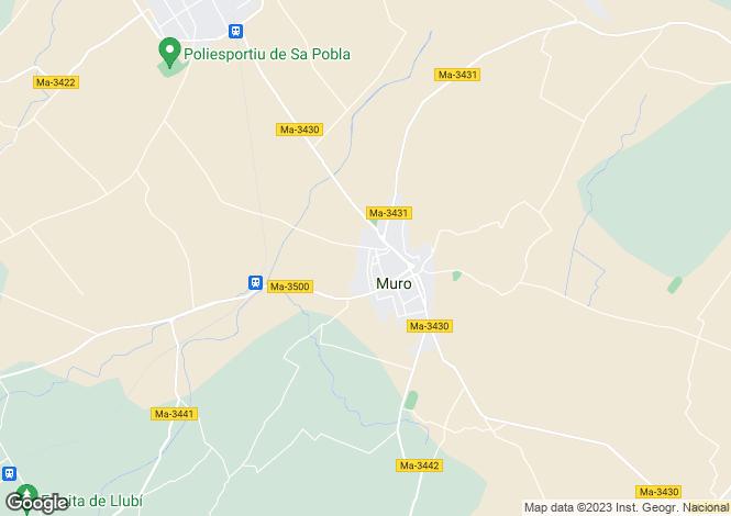 Map for Balearic Islands, Mallorca, Muro